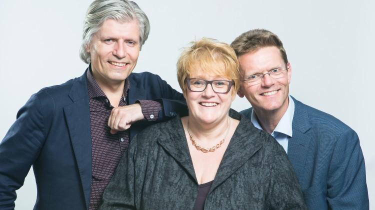 Venstres ledelse med Ola Elvestuen, Trine Skei Grande og Terje Breivik.
