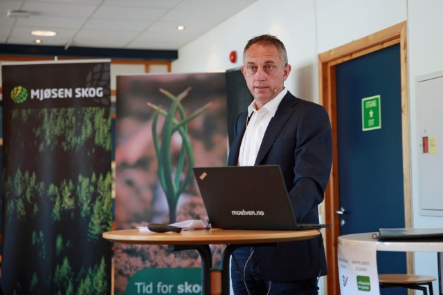 Admininstrerende direktør i Glommen Mjøsen Skog, Gudmund Nordtun.  Foto: Silje Ludvigsen