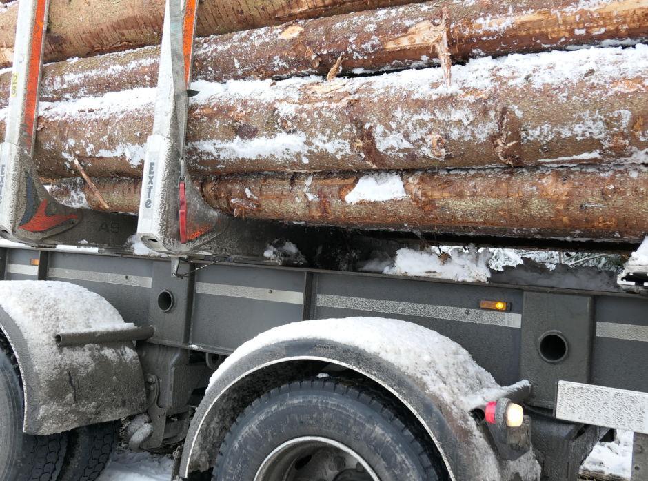 Det er sjåføren som har ansvaret for at tømmertransporten foregår lovlig.
