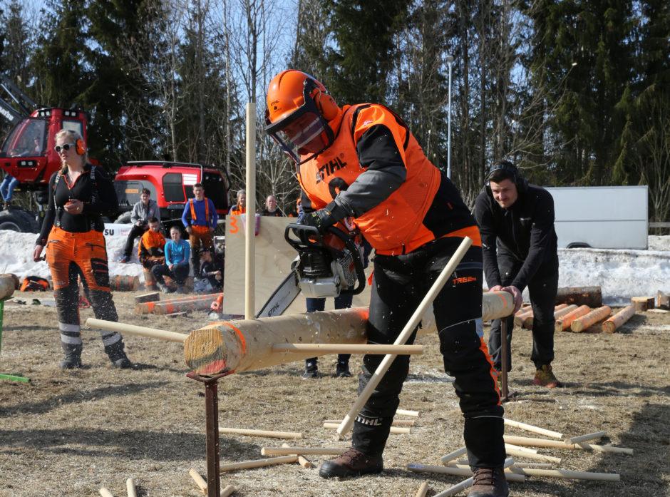 Sivert Lindstad i den forrykende kvistefinalen.