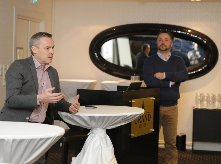 Stig Andersen og Roger A. Øynes fra Shelterwood under frokostseminaret.