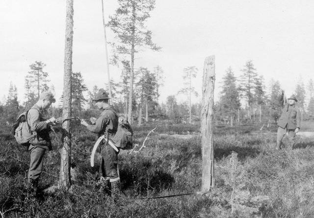 Et bilde tatt under en av de tidlige landsskogtakseringene i Norge.