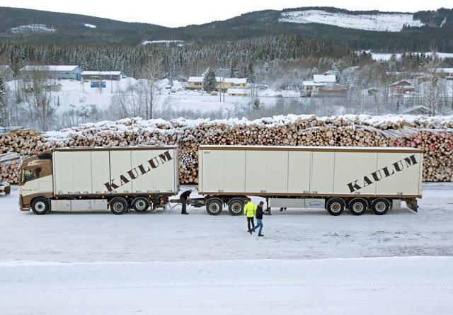 Treindustrien har lenge kjempet for å kunne kjøre slike modulvogntog på flere norske veier.  Nå ser det ut som innsatsen vil bære frukter.