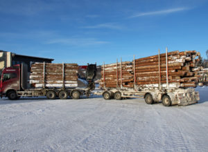 Tester tømmervogntog på 74 tonn