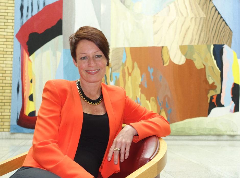 Line Henriette Holten er ny styrelder i Det norske Skogselskap. Bildet er fra hennes tid i Stortinget Foto: Roar Ree Kirkevold