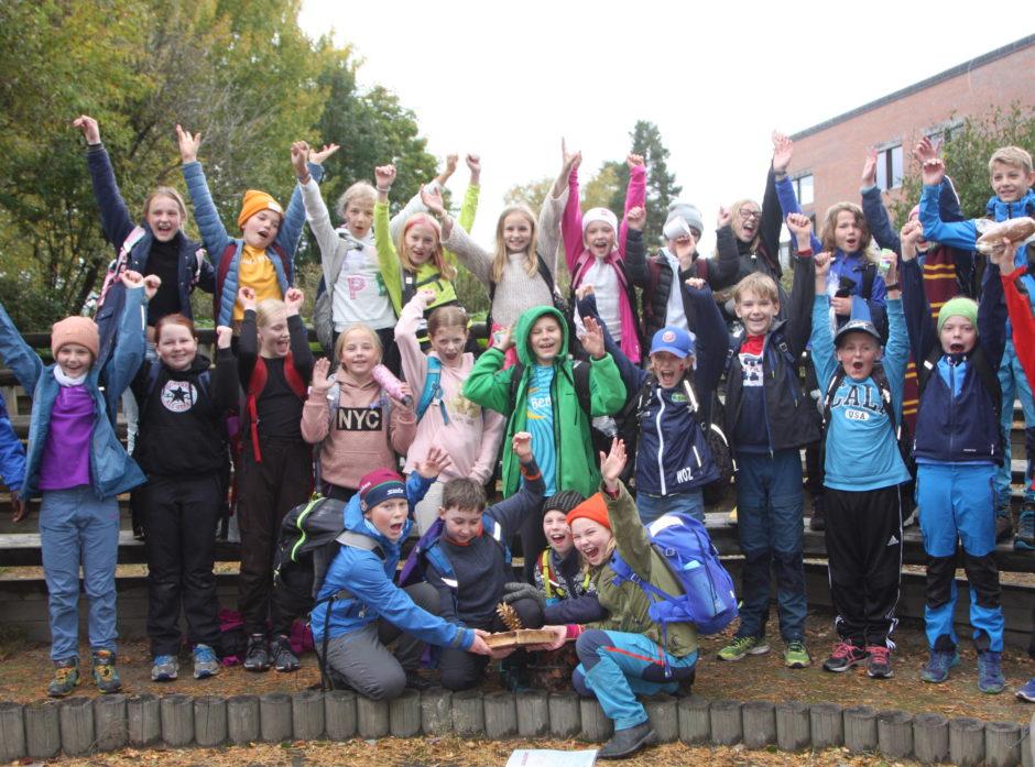 Glade deltagere fra finalen i Skoglekene 2020. Foto:  Anna Lna Albertsen