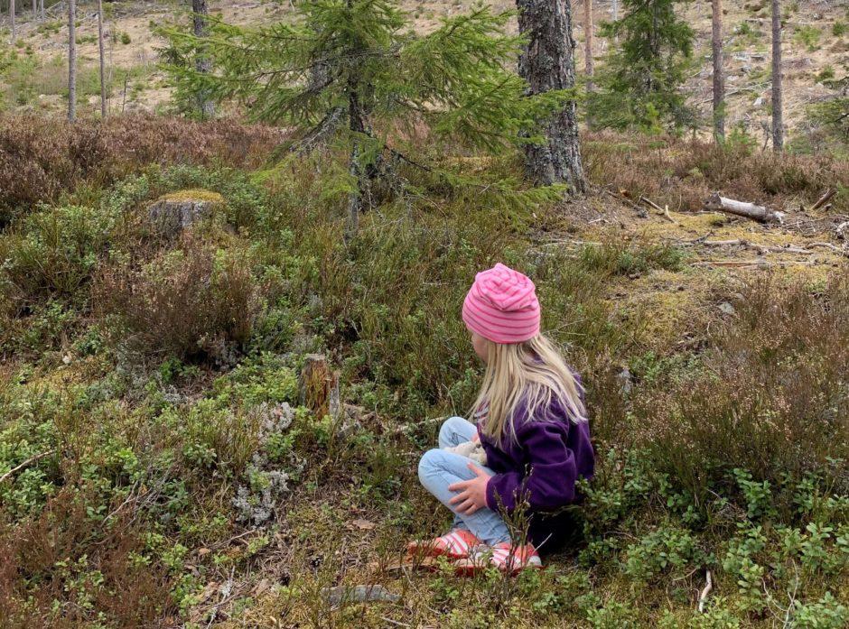 Nær kontakt med skogbunnen som barn er bra for helsen. Illustrasjonsfoto: Gina Aakre